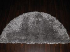 HALFMOON SHAGGY RUG 60X120CM WOVEN TOP QUALITY NEW SUPER THICK PILE GREYS